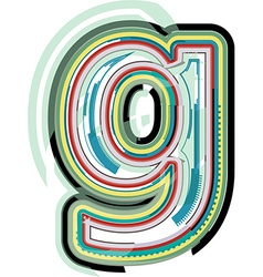 Abstract colorful Letter g vector image