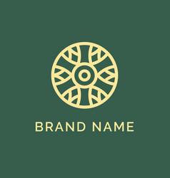 abstract elegant flower logo icon design vector image