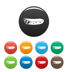 aloe piece icons set color vector image