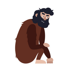 ape man isolated adult monkey cartoon character vector image