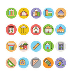Architecture and Buildings Icons 2 vector image