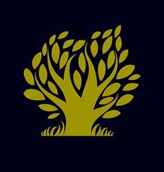 Art fantasy of tree stylized eco symbol Graphic d vector
