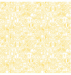 award white line seamless pattern vector image