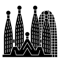 Barcelona - sagrada familia icon vector