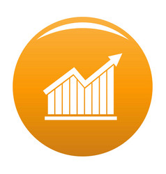 best graph icon orange vector image