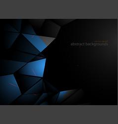 Blue metal shapes scene vector