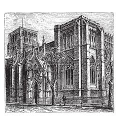 bristol cathedral vintage vector image