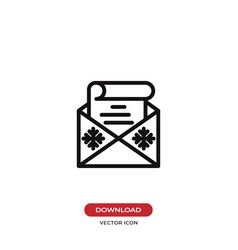 christmas wish list in envelope icon vector image