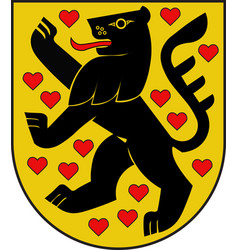 Coat of arms of weimar in thuringia in germany vector