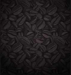Coffee beans seamless patterns vector