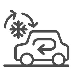 cooling car system line icon auto air vector image