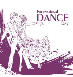 dance day ballroom dancing latina vector image