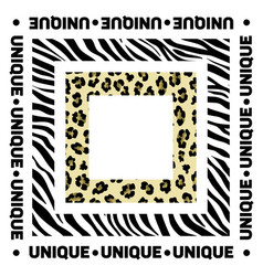 Design for a square shawl or headscarf zebra and vector