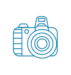 digital camera linear icon concept digital camera vector image