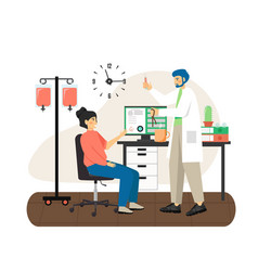 doctor male nurse giving intravenous injection to vector image