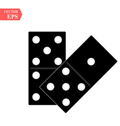 Domino icon isolated on white background for your vector