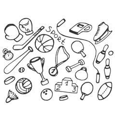 Doodle set of sport vector