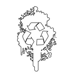 figure stain aerosol sprays with recycle symbol vector image