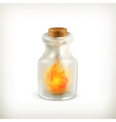 Fire in a bottle icon vector image