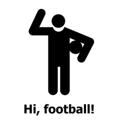 Football icon simple style vector