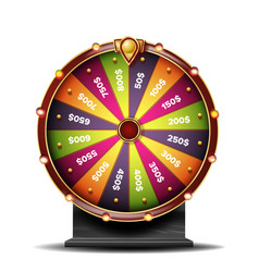 fortune wheel 3d object win fortune vector image