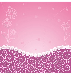 frame decorated floral vector image vector image