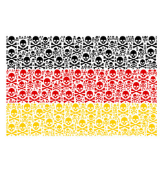 German flag pattern of death skull items vector