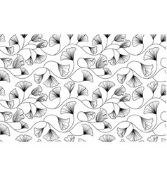 ginkgo biloba leaves pattern vector image