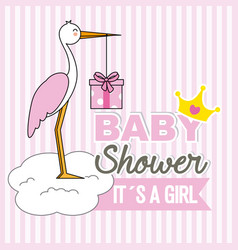 girl baby shower vector image