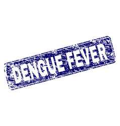 Grunge dengue fever framed rounded rectangle stamp vector