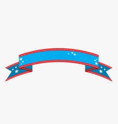 happy 4th july banner vector image