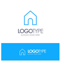Home instagram interface blue outline logo with vector