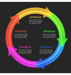Infographics design template circular arrows vector