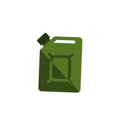 isolated jerrycan flat icon fuel canister vector image