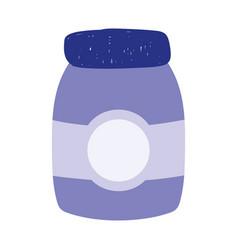 jam jar food isolated icon design white background vector image