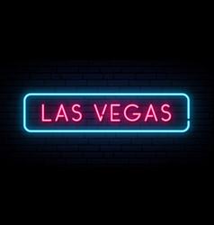 Las vegas neon sign bright light signboard vector
