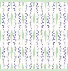 leaf blossom pattern white purple and green vector image