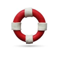 Lifebuoy on white background vector image