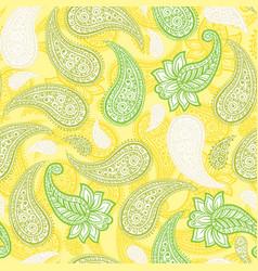 limoncello paisleys seamless pattern with lemon vector image
