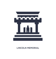 Lincoln memorial icon on white background simple vector