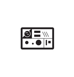 lunch box black concept icon lunch box vector image