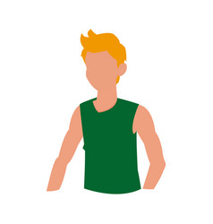 Man fitness sport gym icon vector
