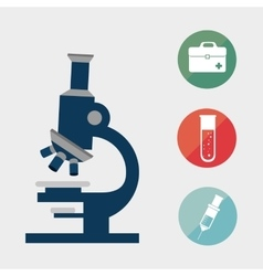 microscope research tool vector image