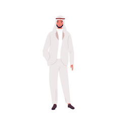 modern saudi businessman in fashionable suit and vector image