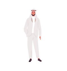 modern saudi businessman in fashionable suit vector image