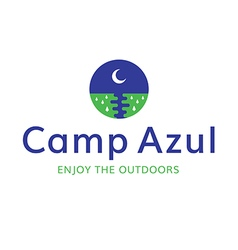 Moon camp recreation outdoors logo vector