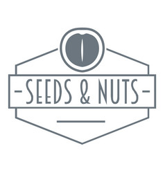 Nut and seed emblem logo vintage style vector