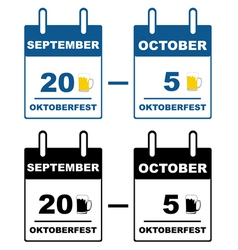 Oktoberfest calendar vector