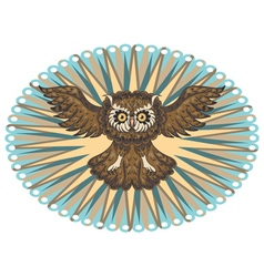 Ornamental Owl3 vector image
