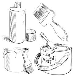 Painting stuff set vector image
